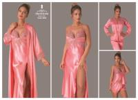Satin Night and Morning Gown 8050