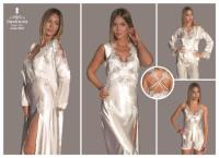 Satin Night and Morning Gown 8020