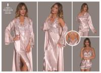 Cotton-Satin Night and Morning Gown 9090