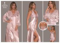Satin Night and Morning Gown 8042