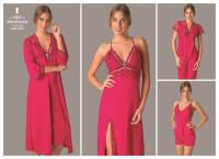 Cotton-Satin Night and Morning Gown 9010